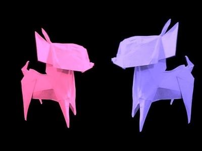 How to make: Origami Dog Chihuahua (Fuchimoto Muneji)