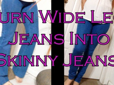 How to make Skinny Jeans from Flare or Boot Cut Jeans! Quick and Easy DIY!