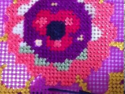 How to work on a needlepoint tapestry kit.