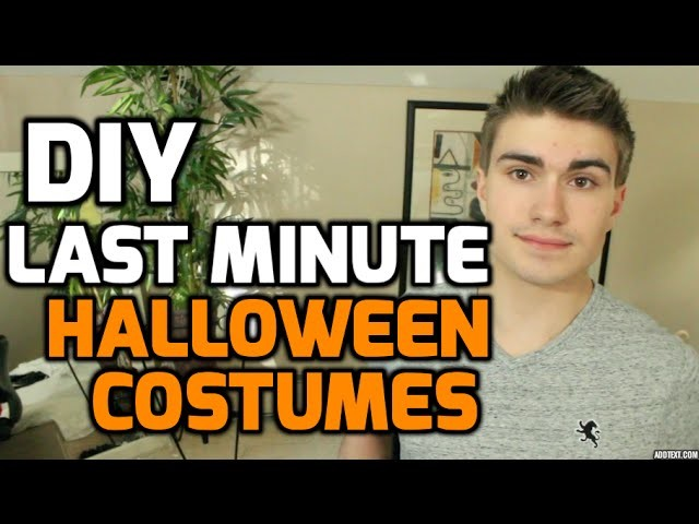 Last Minute DIY Halloween Costumes | JustTom