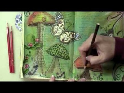 Mixed Media Altered Book - Quiet Place