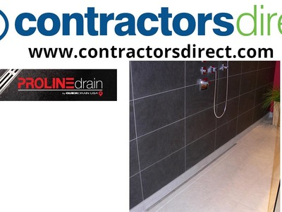 Quick Drain Curbless Shower Installation