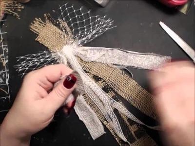 Shabby Burlap Bow tutorial
