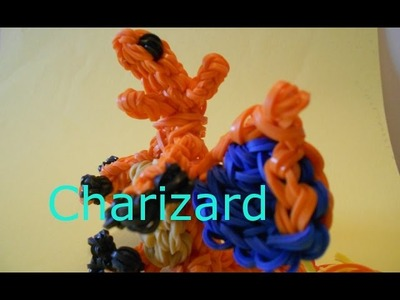 SINGLE LOOM Charizard Pokemon Dragon- Rainbow Loom Charms