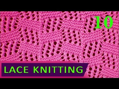 Tilted Block | Lace Knitting Stitch #10