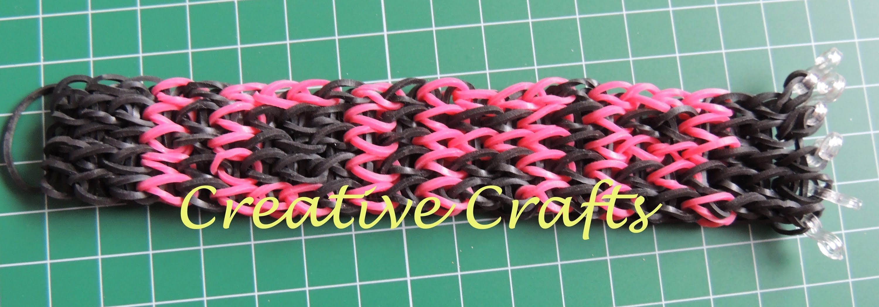 Tutorial pulsera Rainbow Loom con nombre. How to make bracelet Rainbow Loom name.