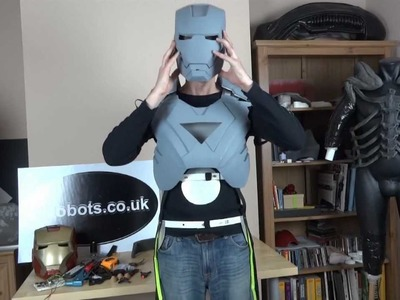 XRobots - Iron Man Cosplay Strapping System Part 3 with partial suit up life size armour suit