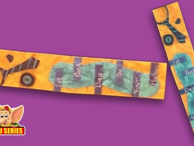 Arts & Crafts - Learn to Make a Tie Bookmark