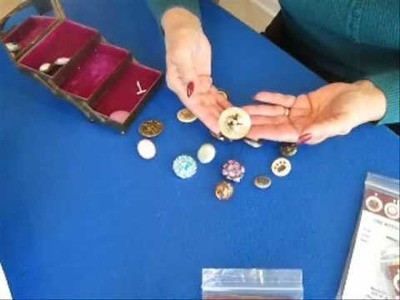 Button Keeper for Vintage Collectible Buttons