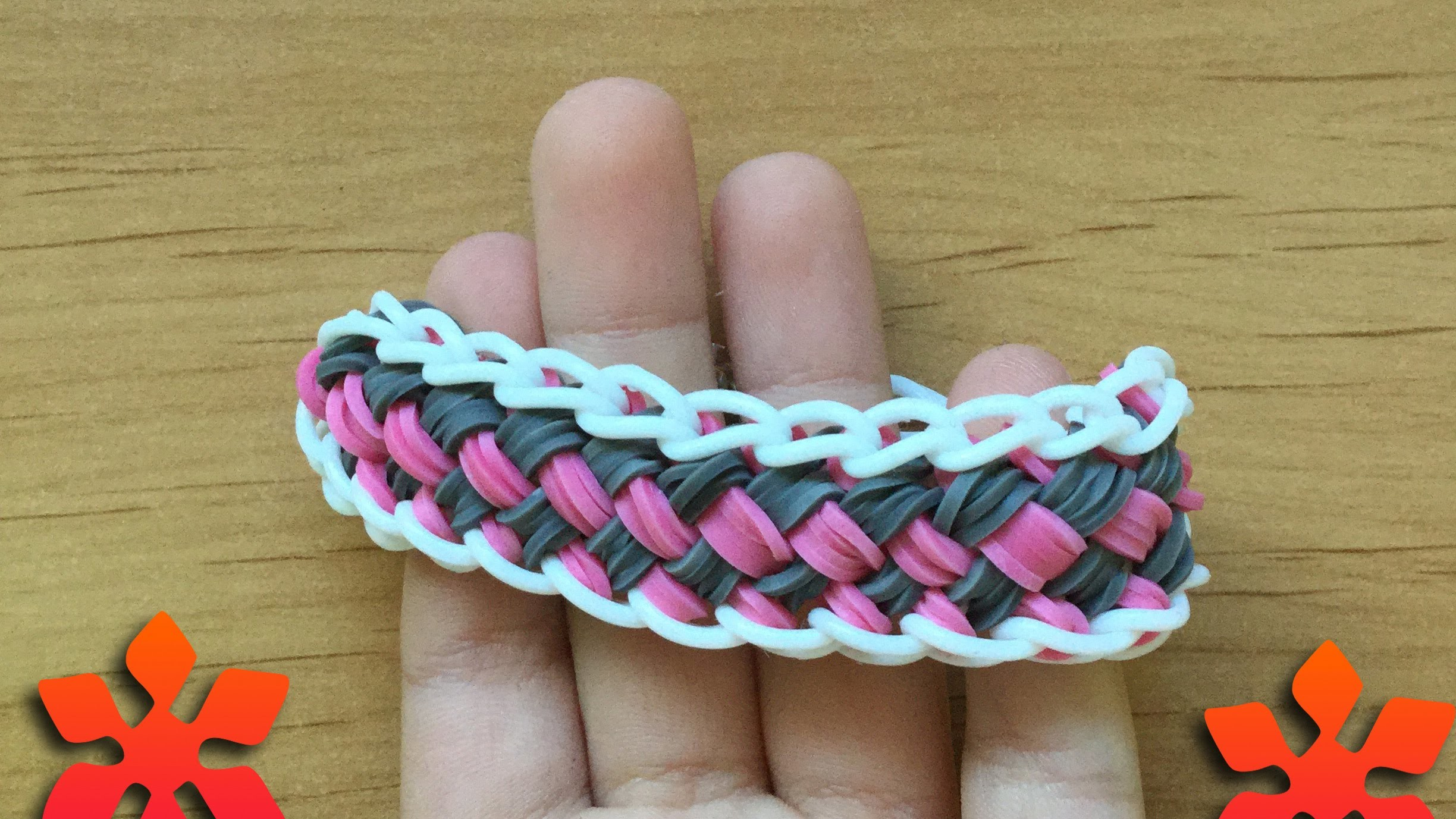 Chinese Finger Trap Bracelet (Rainbow Loom) Tutorial | Loom Bands, Loom Bracelets