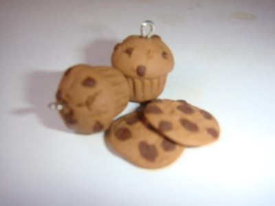 Chocolate Chips Muffin Charm: Polymer Clay