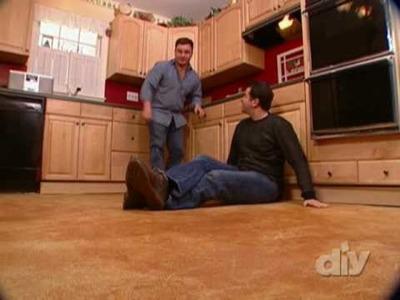 Cool Concrete Kitchen Floor-DIY
