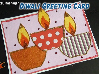 DIY Diwali Greeting Card | How To Make | JK Arts 699