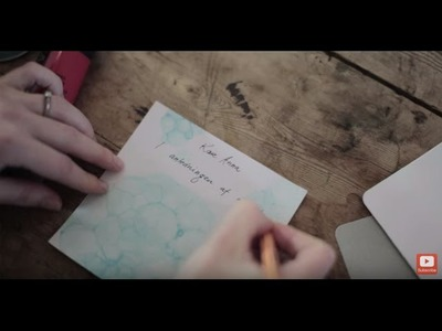 DIY: Invitations and place cards with soap bubble print by Søstrene Grene