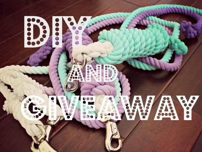 DIY   OMBRÉ LEAD ROPES & GIVEAWAY
