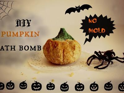 DIY pumpkin bath bomb without citric acid