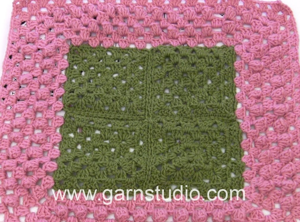 DROPS Crocheting Tutorial: How to work the edge with bobbles used in 163-1
