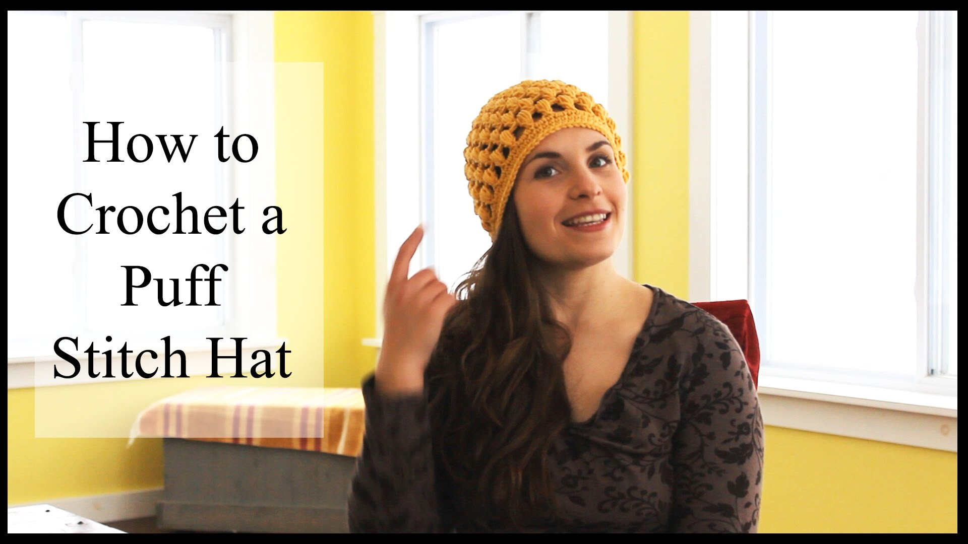 Easy Puff Stitch Hat Tutorial