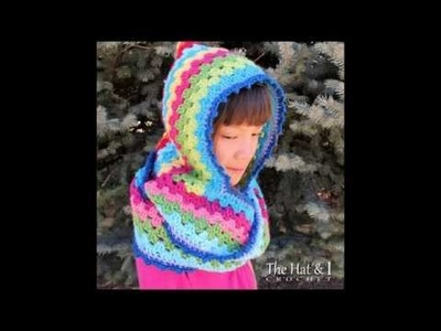 FREE Crochet Cowl Pattern - Harlequin Hoodie - a Hood With Cowl