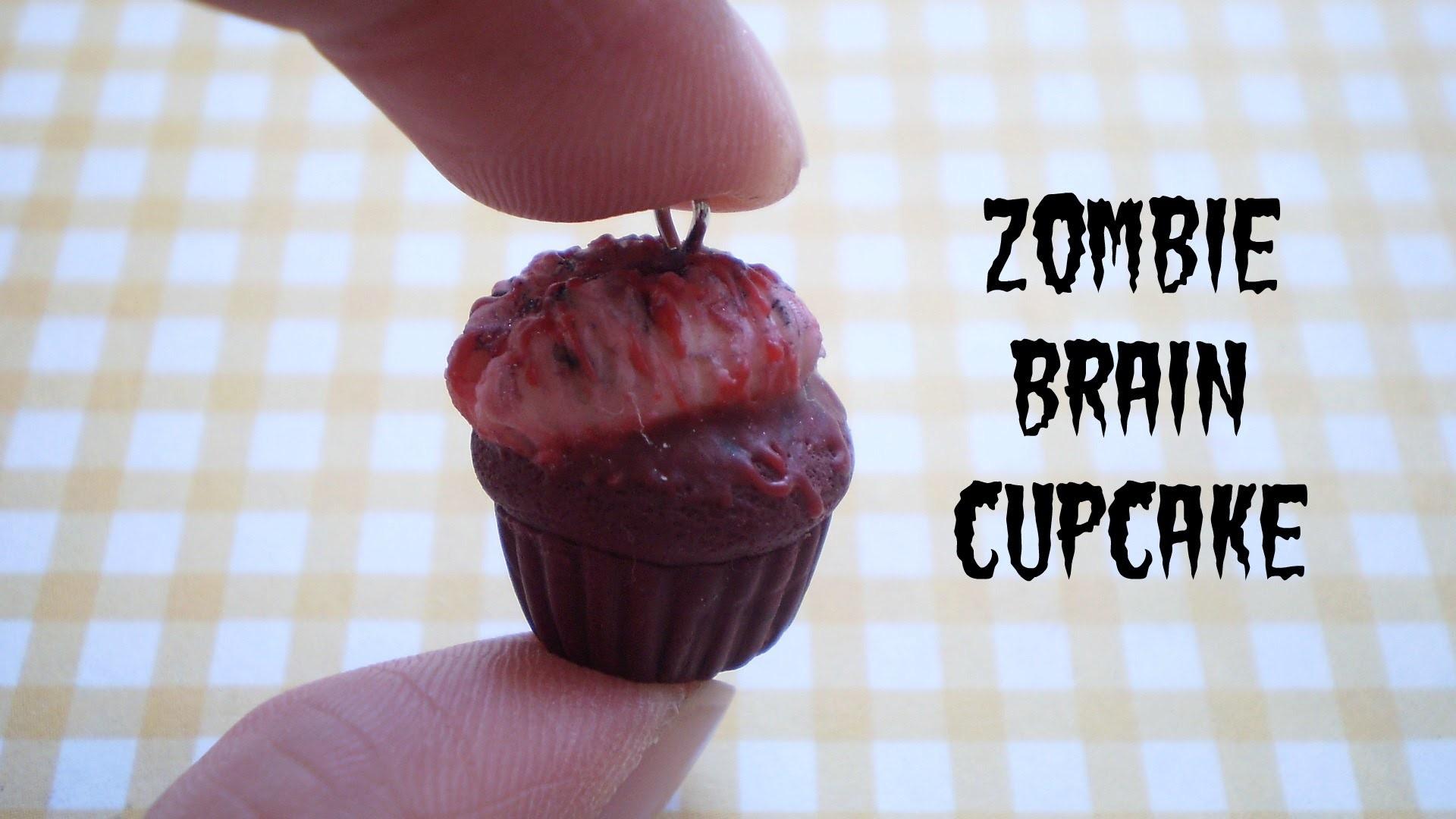 Halloween Collab: DIY Zombie Brain Cupcake