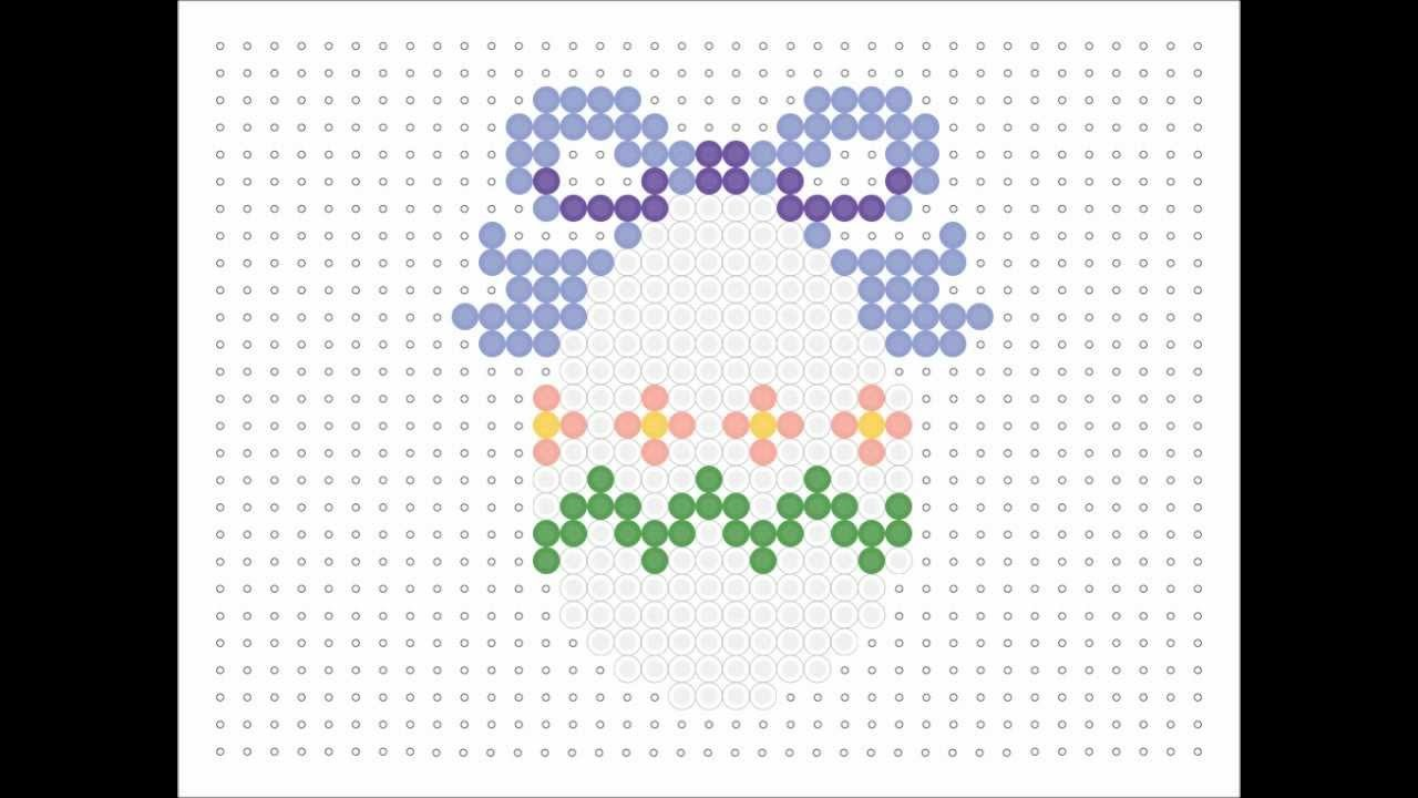 Hama Bead White Egg With Purple Bow (Easter Series #8)