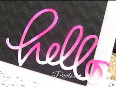 Hello Die Cut with Hot Pink Ombre Copic Markers