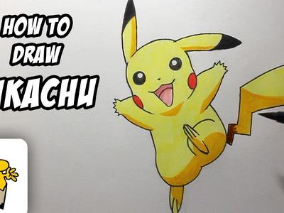 How to draw Pikachu [Pokemon] Drawing Tutorial