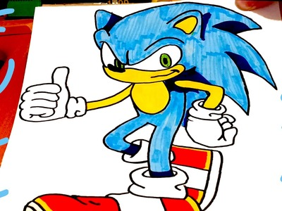 How to draw SONIC The Hedgehog Like a Pro STEP BY STEP EASY | draw easy stuff but cool | FULL