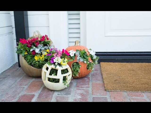 How to Make a Floral Fall Planter