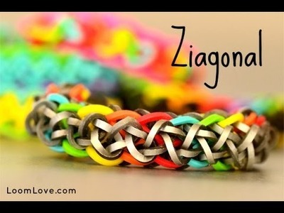 How to Make a Ziagonal Rainbow Loom Bracelet