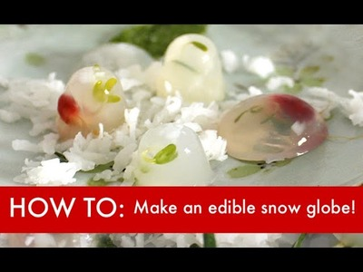 How to Make an Edible Snow Globe