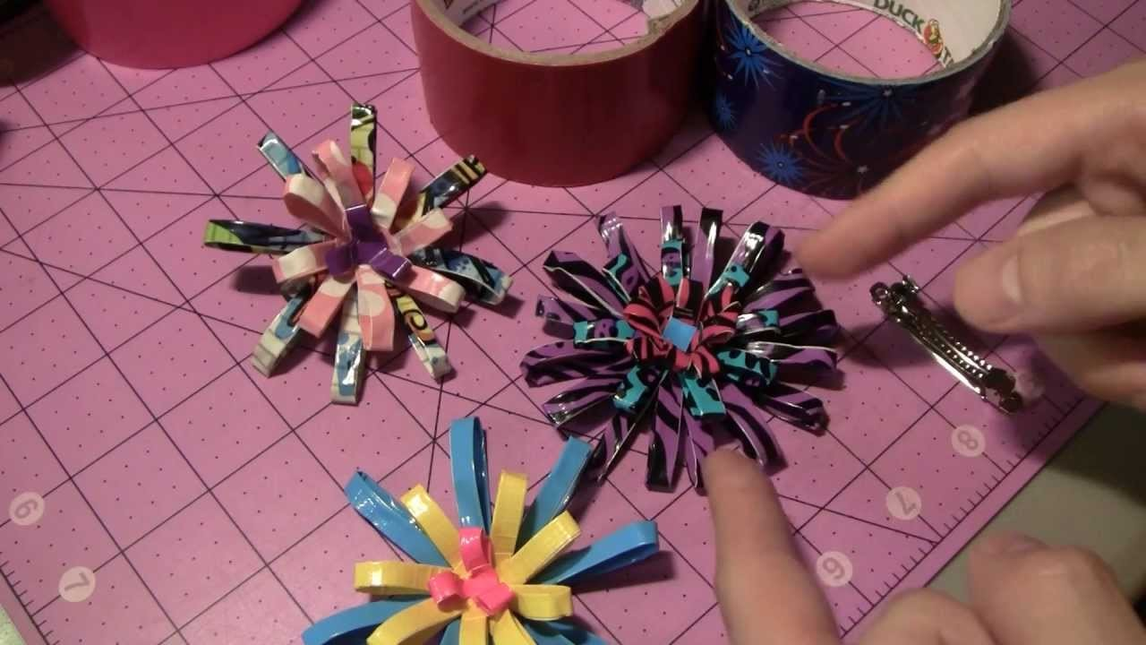 How to make Duct tape Firework Loop hair clips!
