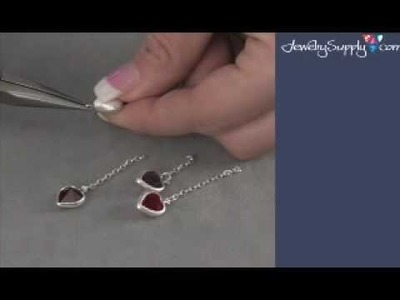 How to use Swarovski's Heart Channels in Earrings - Jewelry