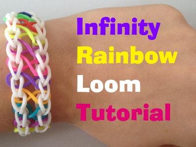 INFINITY Rainbow Loom bracelet Tutorial l JasmineStarler