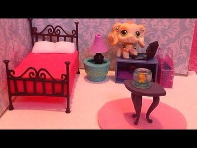 LPS DIY Bedroom Tutorial ~ Part 2. Floor and Furniture
