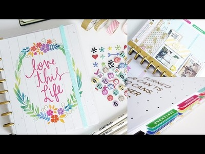 My Happy Planner Set Up, DIY Planner Band & Dashboard, Laminate Tabs | Charmaine Dulak