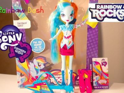 My Little Pony Rainbow Rocks Rainbow Dash Doll Review| MLP Dolls| B2cutecupcakes