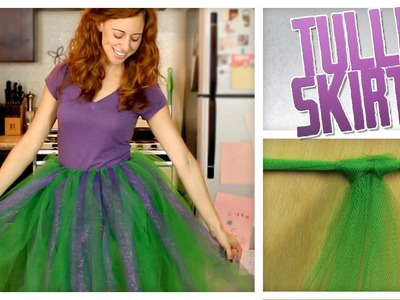 No-Sew Tulle Skirt - Do It, Gurl