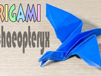 Origami Archaeopteryx : Paper Dinosaur Tutorial(Bird)