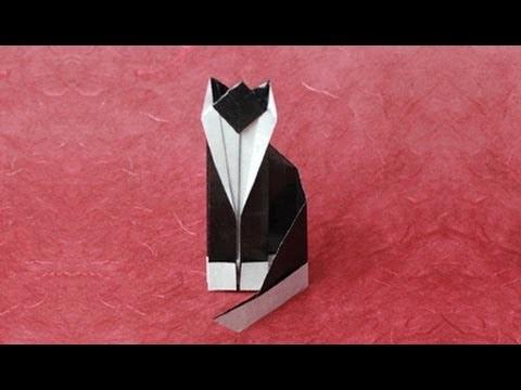 Origami Cat Instructions: www.Origami-Fun.com
