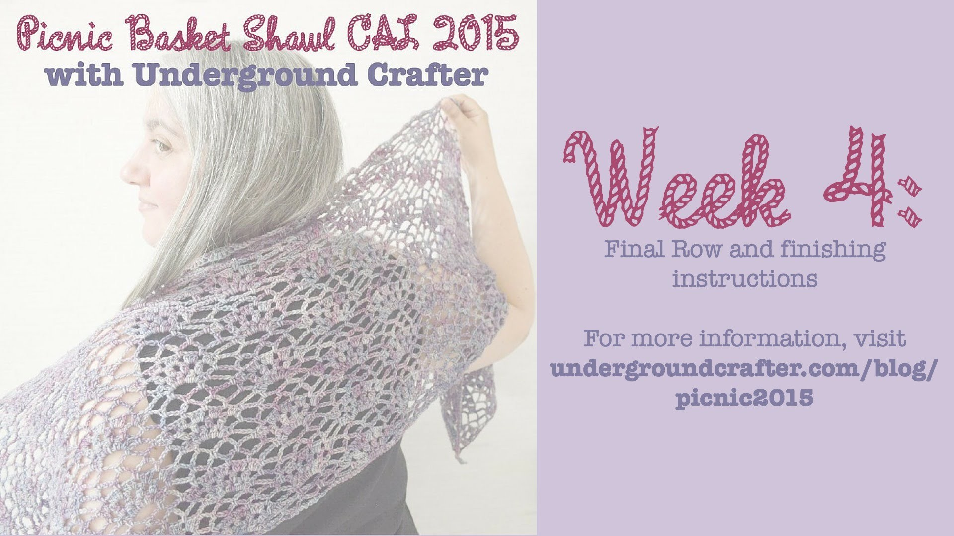 Picnic Basket Shawl CAL Week 4: Final Row and Finishing
