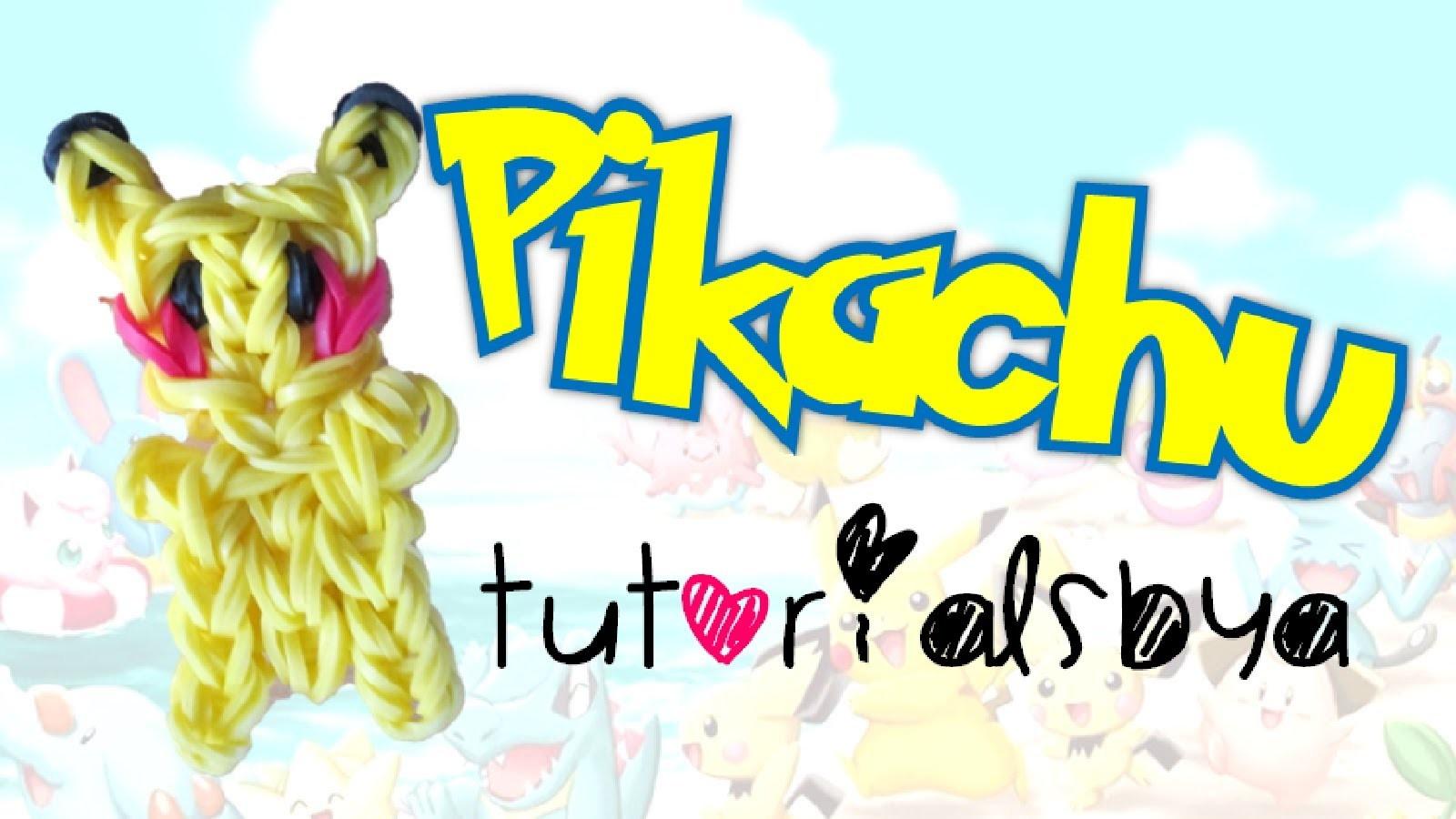 Pikachu Figurine.Charm Rainbow Loom Tutorial