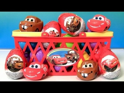 Pixar Cars Easter Eggs Basket Disney Character Shaped Candy Lightning McQueen & Mater Huevos 2014