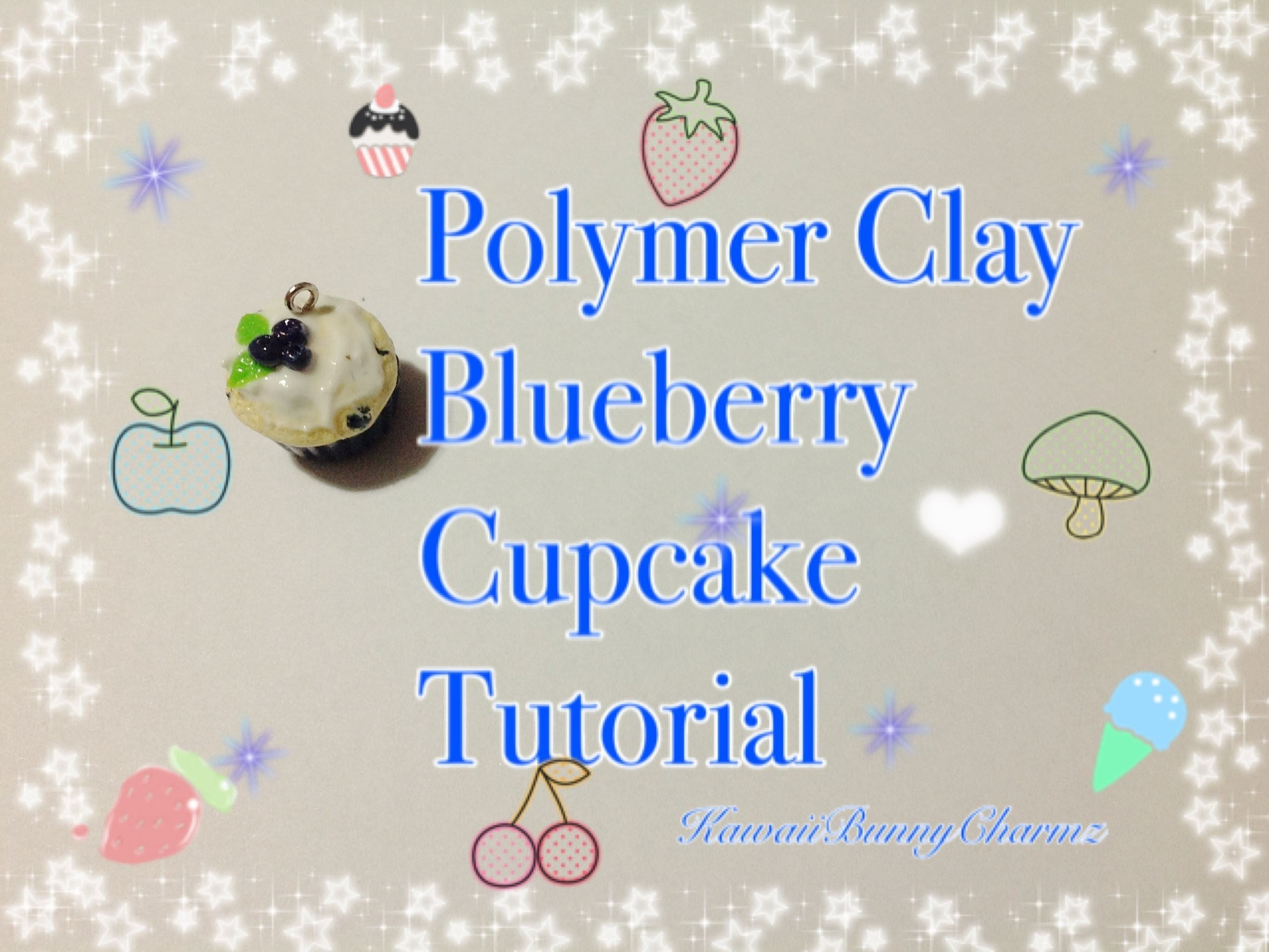 Polymer Clay Blueberry Cupcake Tutorial