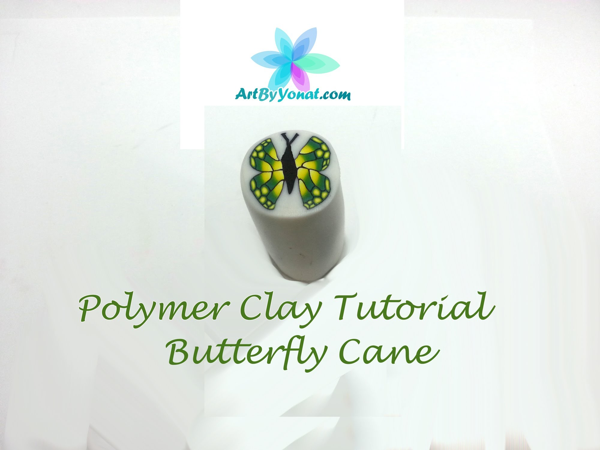Polymer Clay Tutorial - How to Make a Butterfly Cane - Lesson #15