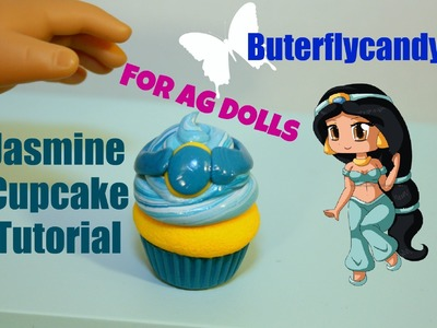 Princess Jasmine Cupcakes | American Girl Food Tutorial | Dessert | Cake | Polymer Clay