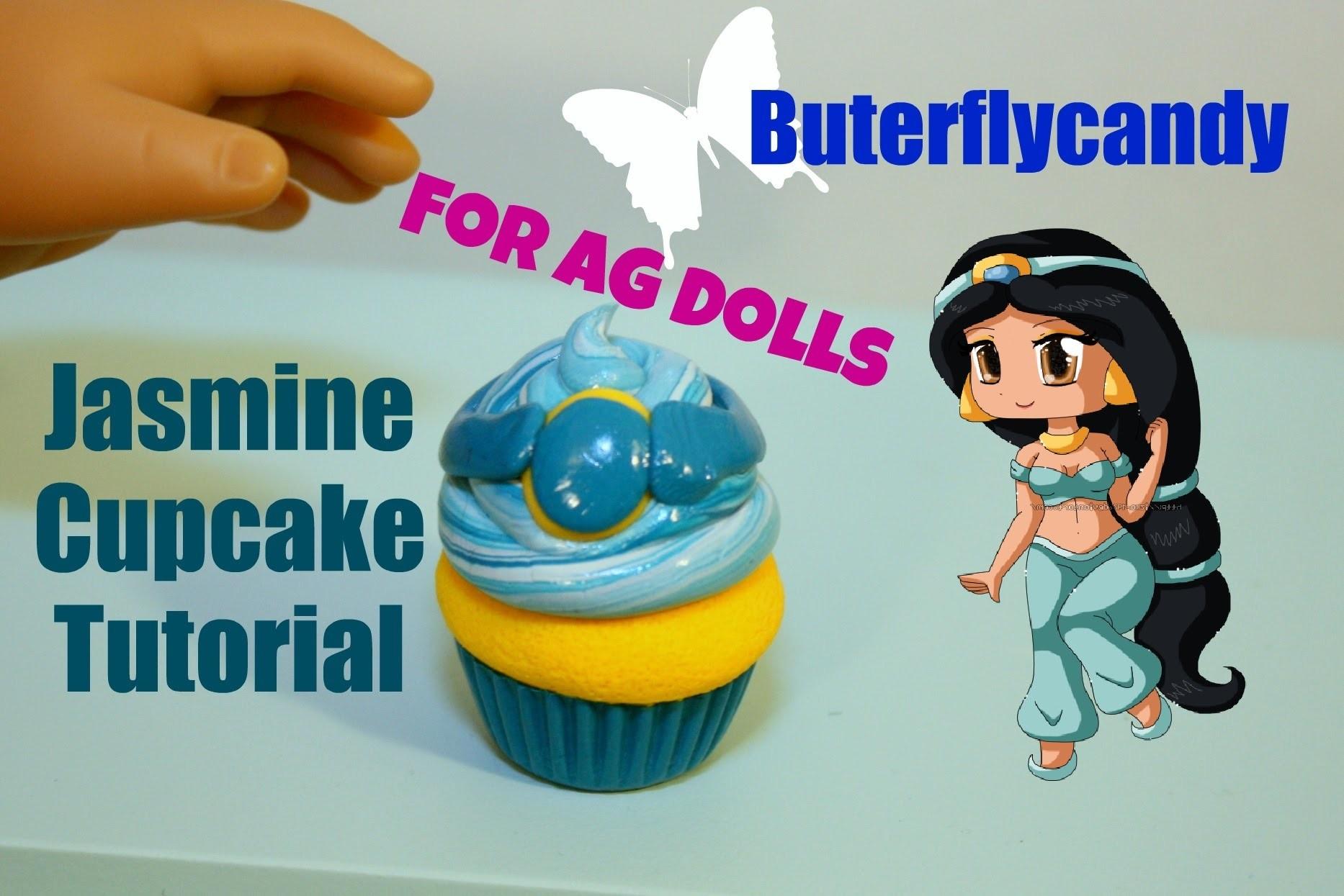 Princess Jasmine Cupcakes | American Girl Food Tutorial | Dessert | Cake | Polymer Clay