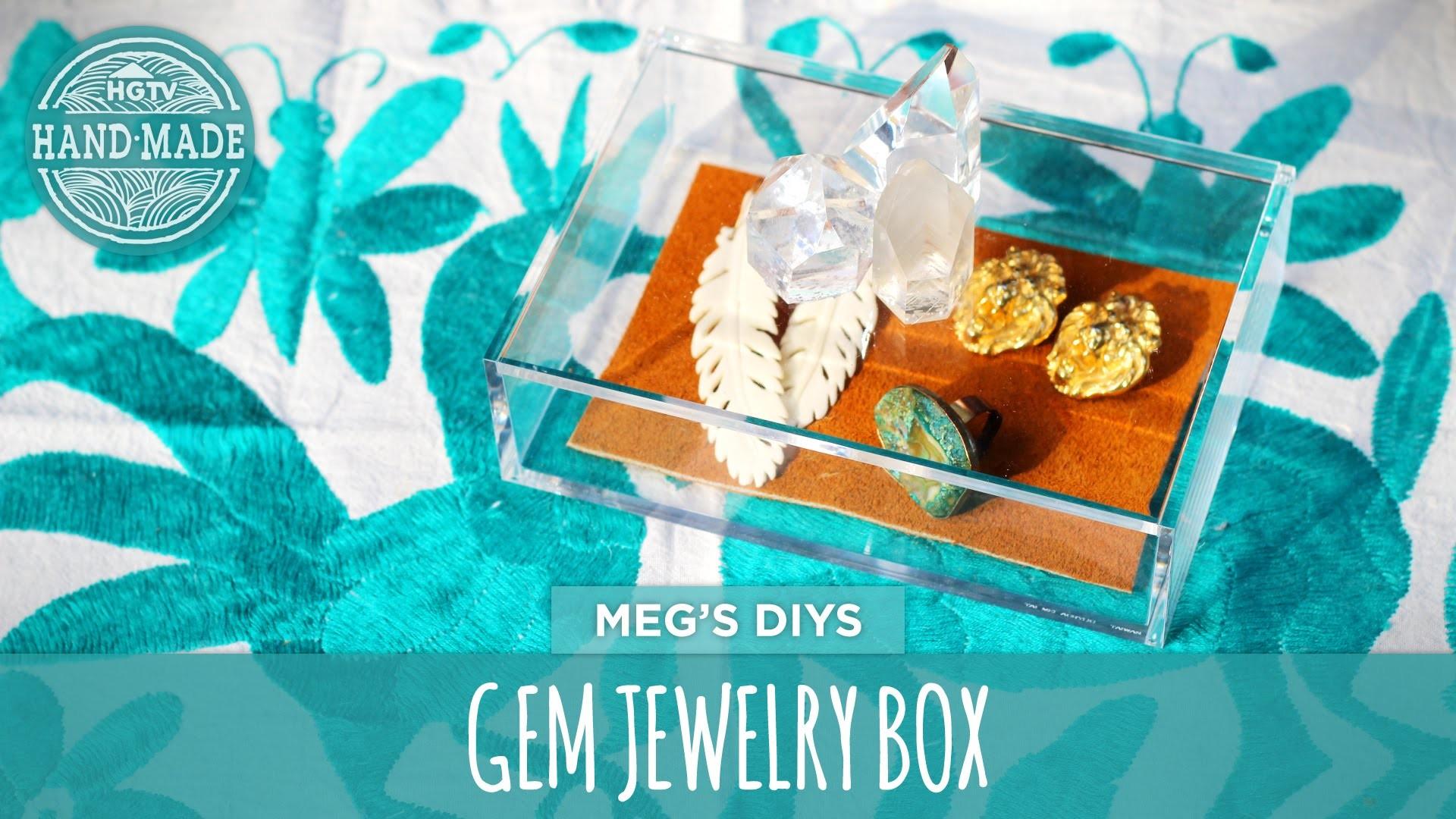 Quartz and Pyrite Jewelry Box- HGTV Handmade
