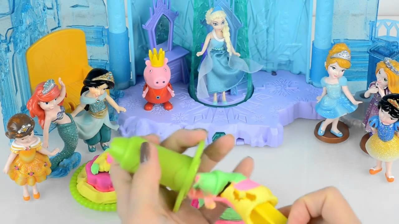 Queen Elsa Princess Anna Playdoh DohVinci DIY Disney Frozen Sticker Box Toy Play Doh Vinci