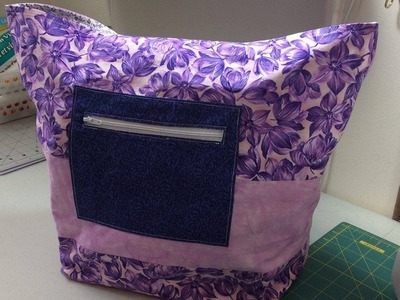 (Quilting Tutorial) Fully Zipped & Lined Tote PART 2